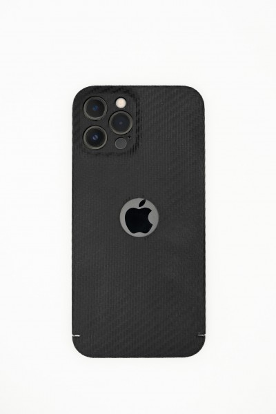 Carbon Cover iPhone 13 Pro mit Logowindow