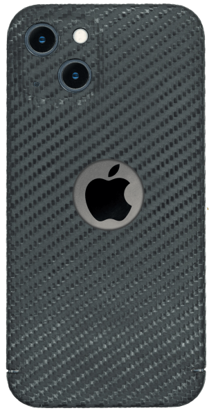 Carbon Cover iPhone 13 Mini mit Logowindow