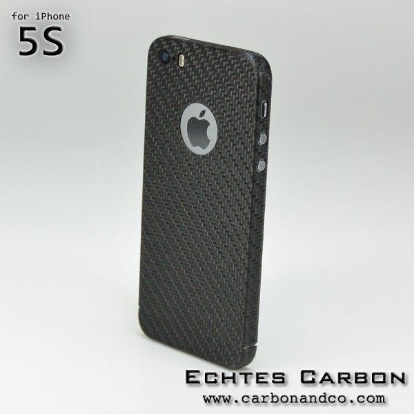 Carbon Cover iPhone 5s mit Logo Window