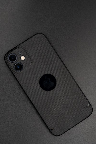Carbon Cover iPhone 12 mit Logowindow
